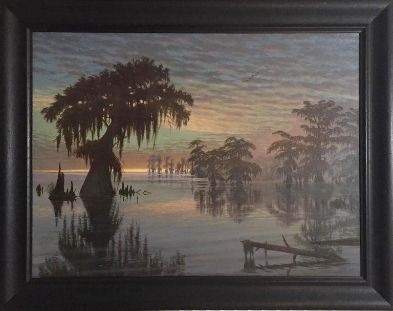 "Murrell Butler (Louisiana) ""Bayou Sunset"" (Large) - Painting by Murrell Butler"