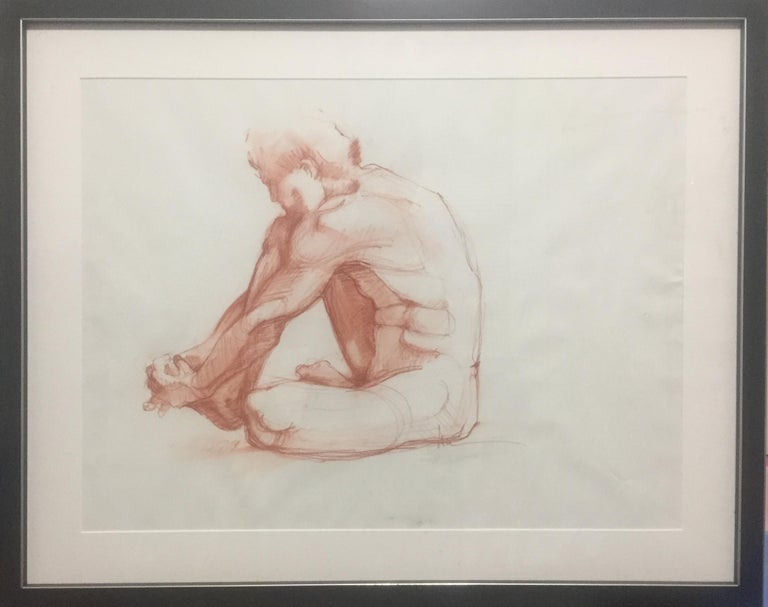 Lue Isaac Nude - Seated Male