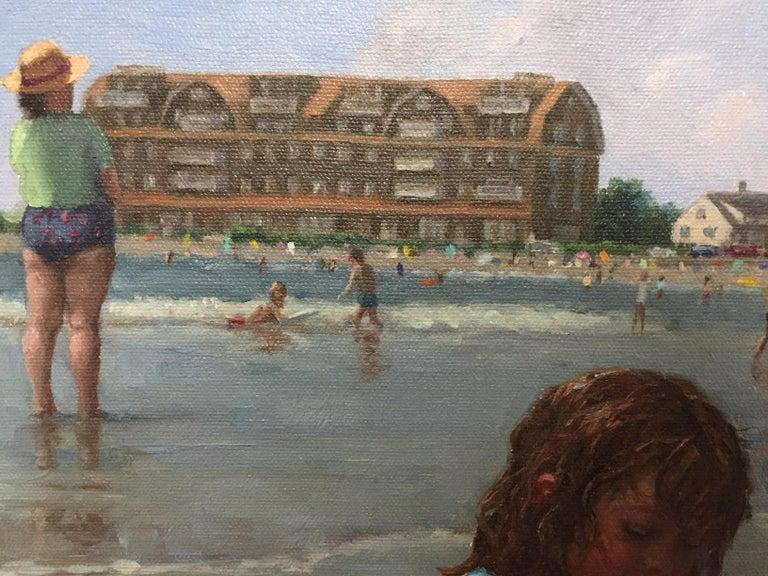 Gooch's Beach (Maine) - Painting by Gretchen Huber