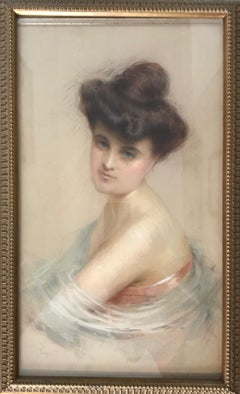 Early 1900s Portrait Drawings and Watercolours