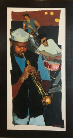 """Jazz Players"" by New Orleans Icon James Michalopoulos"