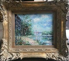 Impressionist Lake Scene