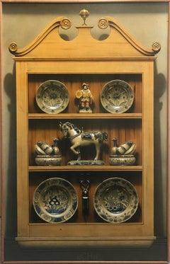Cabinet With Delft (Trompe L'oeil)