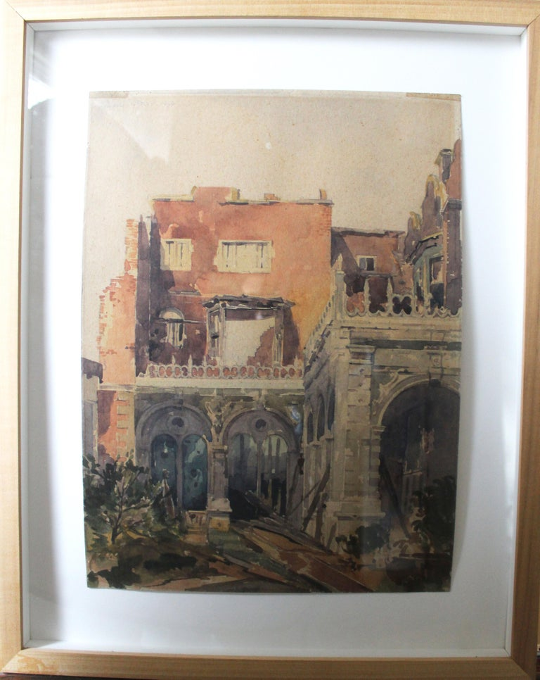 The Last of the Holland House - Painting by Adrian Bury