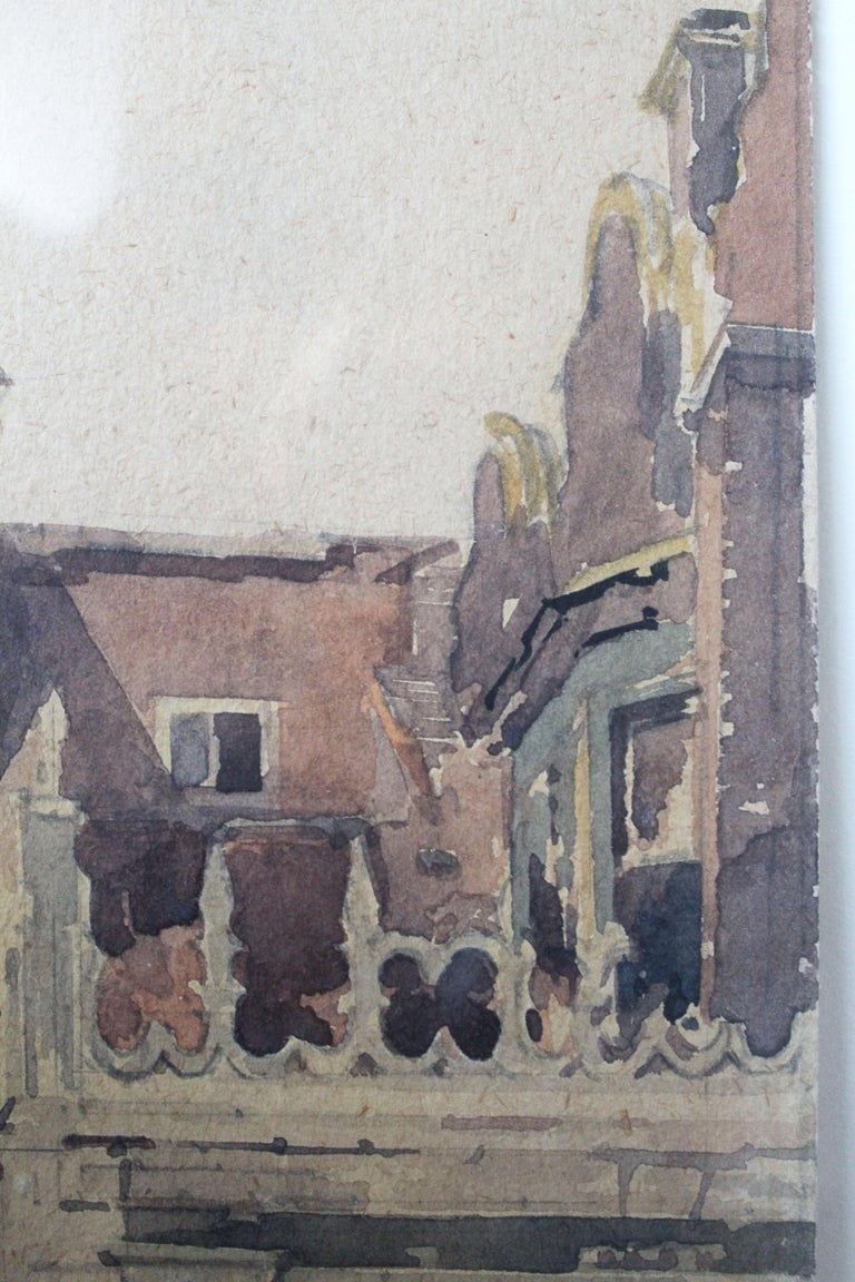 The Last of the Holland House - Romantic Painting by Adrian Bury