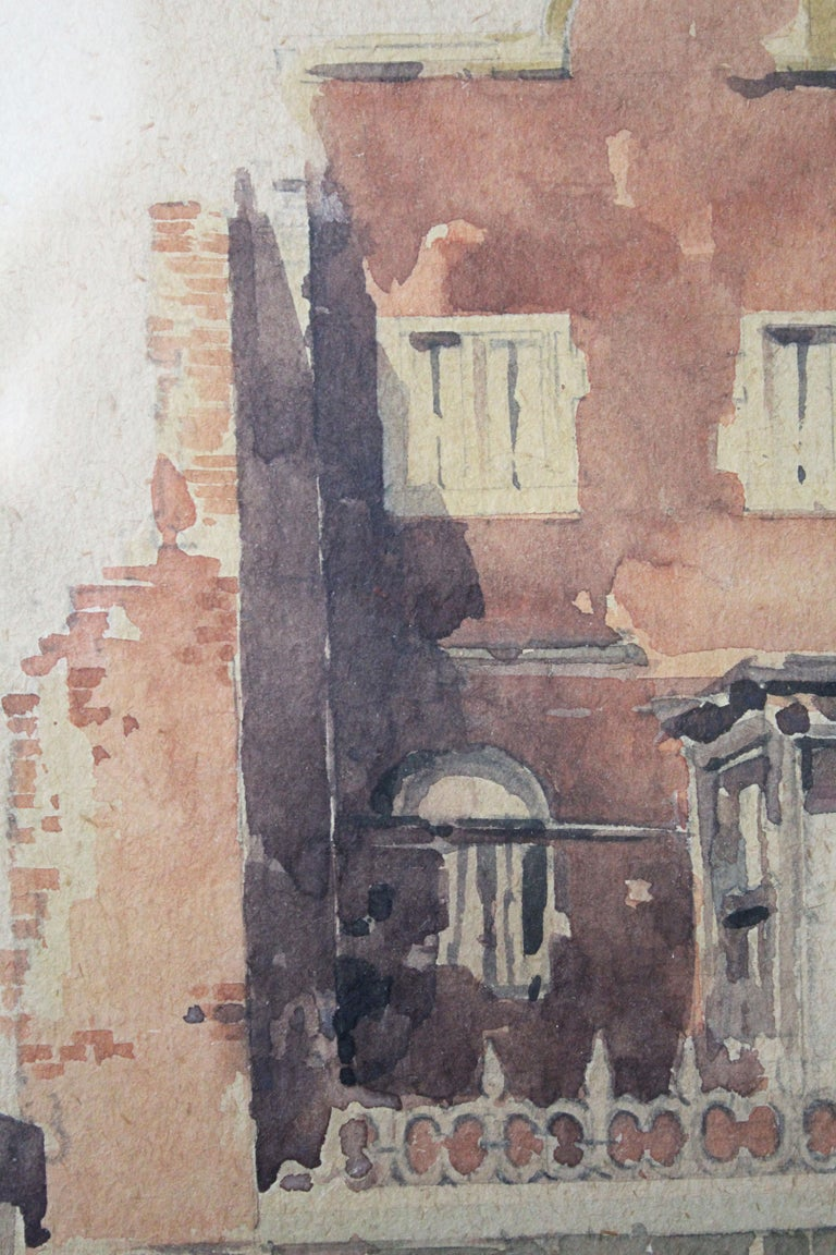 """As evidenced by the title the artist gave it, """"The Last of Holland House"""" is an elegiac depiction of a grand old country home (and a way of life) falling into ruin in the English countryside. Adrian Bury (1891 - 1991) was known for both portraits"""