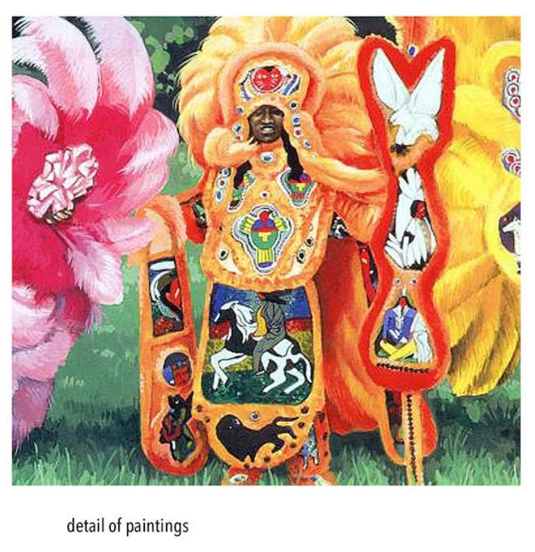 Mardi Gras Indian Chiefs, New Orleans (Set of 2) - Painting by Mark Andresen