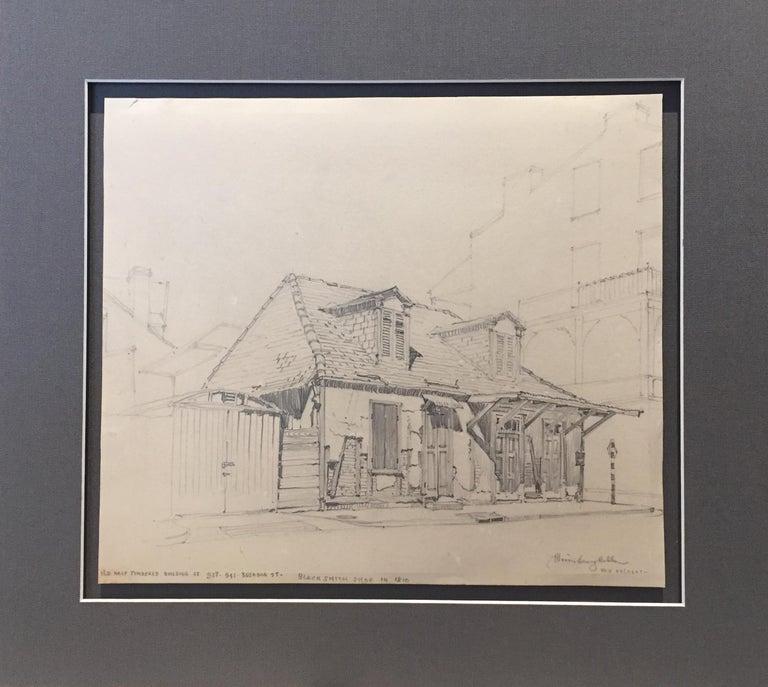 Lafitte's Blacksmith Shop, New Orleans - Realist Art by Morris Henry Hobbs