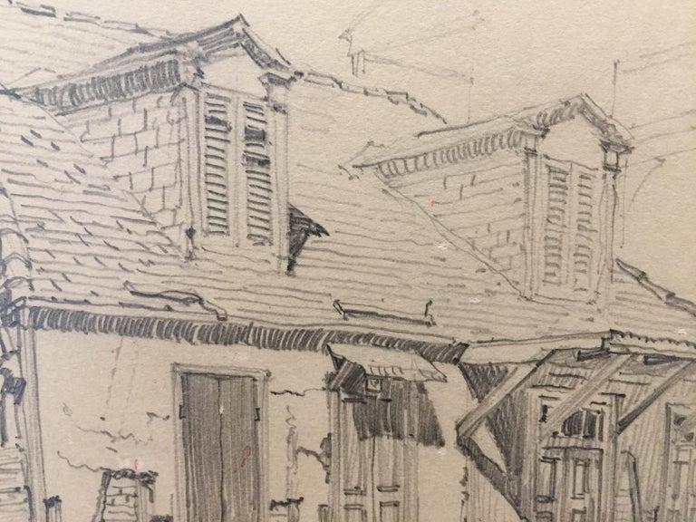 Lafitte's Blacksmith Shop, New Orleans - Brown Landscape Art by Morris Henry Hobbs