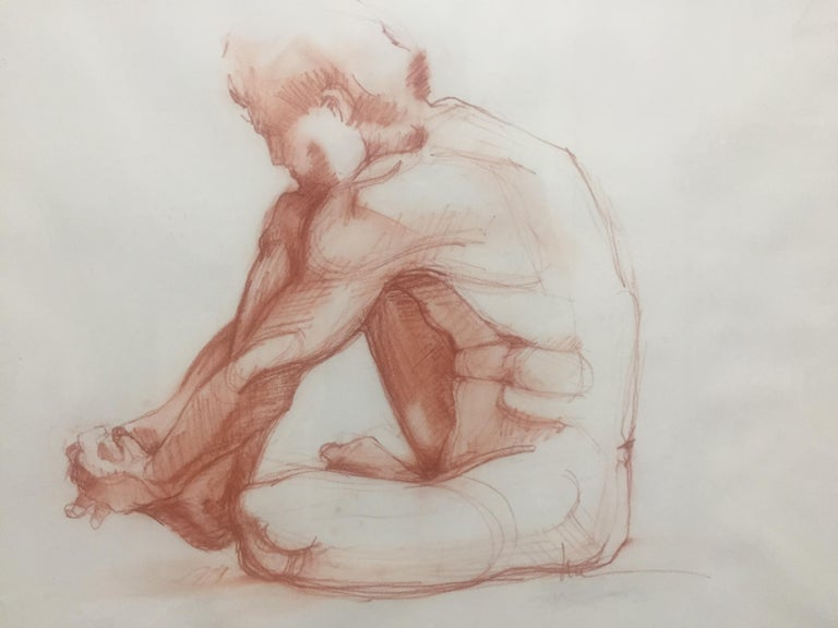 Seated Male - Art by Lue Isaac