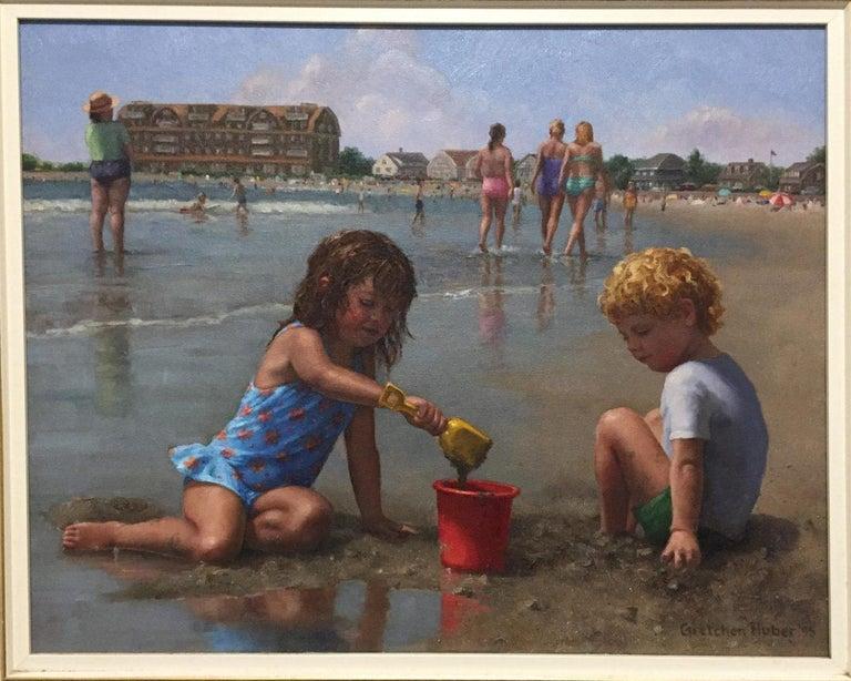 Gretchen Huber Landscape Painting - Gooch's Beach (Maine)