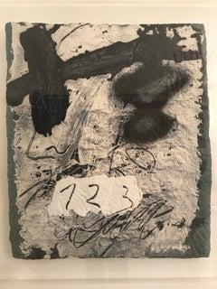 Untitled Intaglio Print by Antoni Tapies