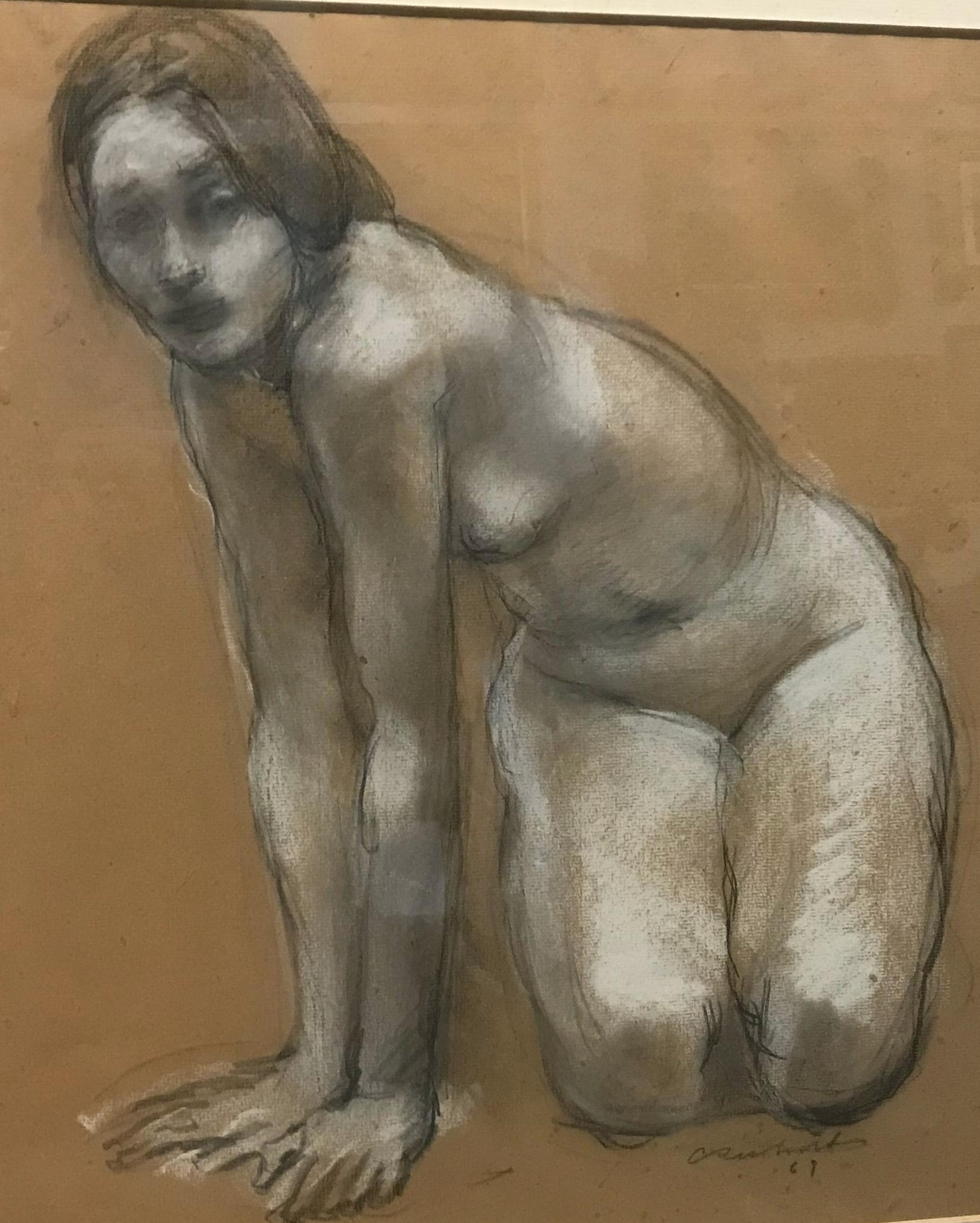 """Charles Richards (New Orleans) """"Crouching Woman"""""""