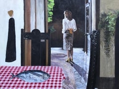 "Andrew Lyman ""Leaving the Table"" (Large)"