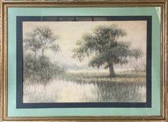 """Alexander Drysdale (New Orleans), """"Lagoon with Oaks"""""""