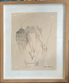 Young Woman Washing (Signed)