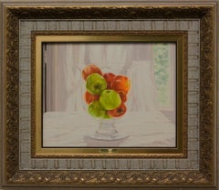 """""""Bowl of Apples"""" by Fernando Ibanez 13 x 16 in. Oil on Canvas"""