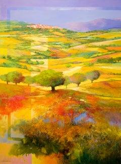 """""""Italian Hills"""" Landscape by Nicola De Benedictis"""