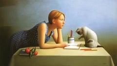 """Dreaming Caruso"" 23 x 41 inch Oil on Canvas by Sandra Batoni"