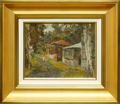 """Street in Town Ples"" by Oleg Ardmasov 10 x 12 inch Oil on Canvas"