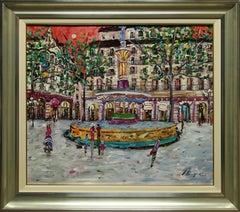"""""""Fontaine du Theatre Francais at Place Andre- Malraux Paris"""" by Andrea Berenguer"""