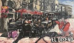 El Diseno 13 x 22 in. Mixed Media by Albert Vegas