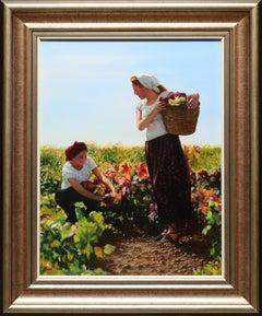 """Vendimia (The Grape Harvest)"" by Javier Pedrosa 26"" x 20"" Oil on Canvas"
