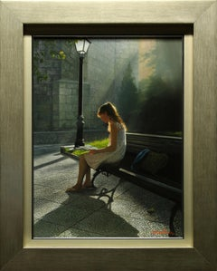 """""""Patience While Waiting"""" by Fernando Pedrosa 22"""" x 16"""" Oil on Canvas"""