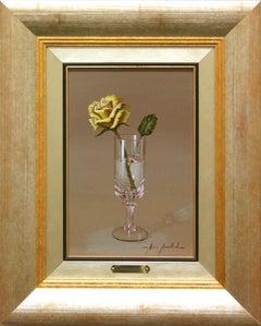 """Marisa Mallol """"Cheers!"""" 11"""" x 7"""" Oil on Board"""