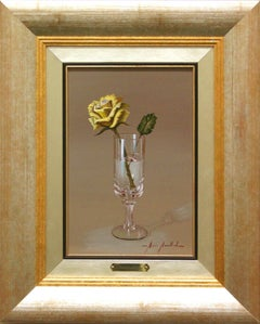 "Marisa Mallol ""Cheers!"" 11"" x 7"" Oil on Board"