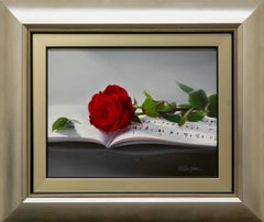 """Martina Yeon """"Our Song"""" 11"""" x 14"""" Oil on Canvas"""