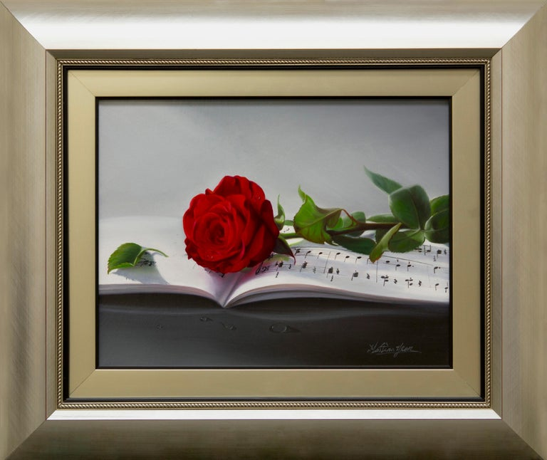 """Martina Yeon """"Our Song"""" 11"""" x 14"""" Oil on Canvas  - Painting by Martina Yeon"""