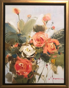 """Sun Bonnet"" Oil on Canvas by Laura 12"" x 16"""
