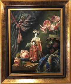 """Still Life"" by Cornelis Le Mair 31 x 24 inch Oil on Board"