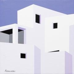 """""""White Gold"""" 12 x 12 inch Oil on Canvas by Nuria Almarche"""