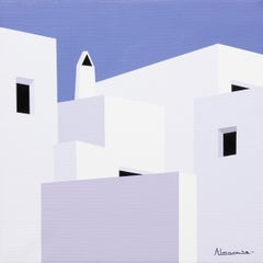 """Around Here Somewhere"" Oil on Canvas by Nuria Almarche 12"" x 12"""