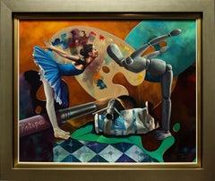 """Natalia Gubanova in the Studio"" by Antonio Torres 31 x 39 in. Oil on Canvas"