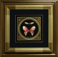 """Surrealistic Butterfly"" by Giampaolo Bianchi 6.5 x 6.5inch Mixed Media on Board"