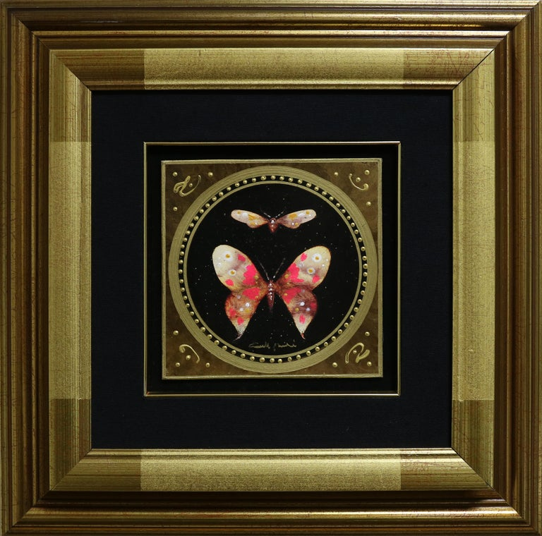 Item is in excellent condition and has only been displayed in a gallery setting. Item includes frame; framed dimensions are approximately 16.5 x 16.5 inches.  Born in Lucca, Italy in 1947, Giampaolo Bianchi is an artist who uses ideas of myth to