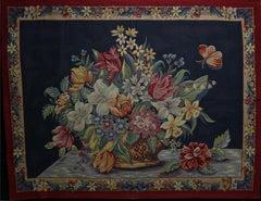 """Panier Fleuri"" Flower Basket Tapestry"