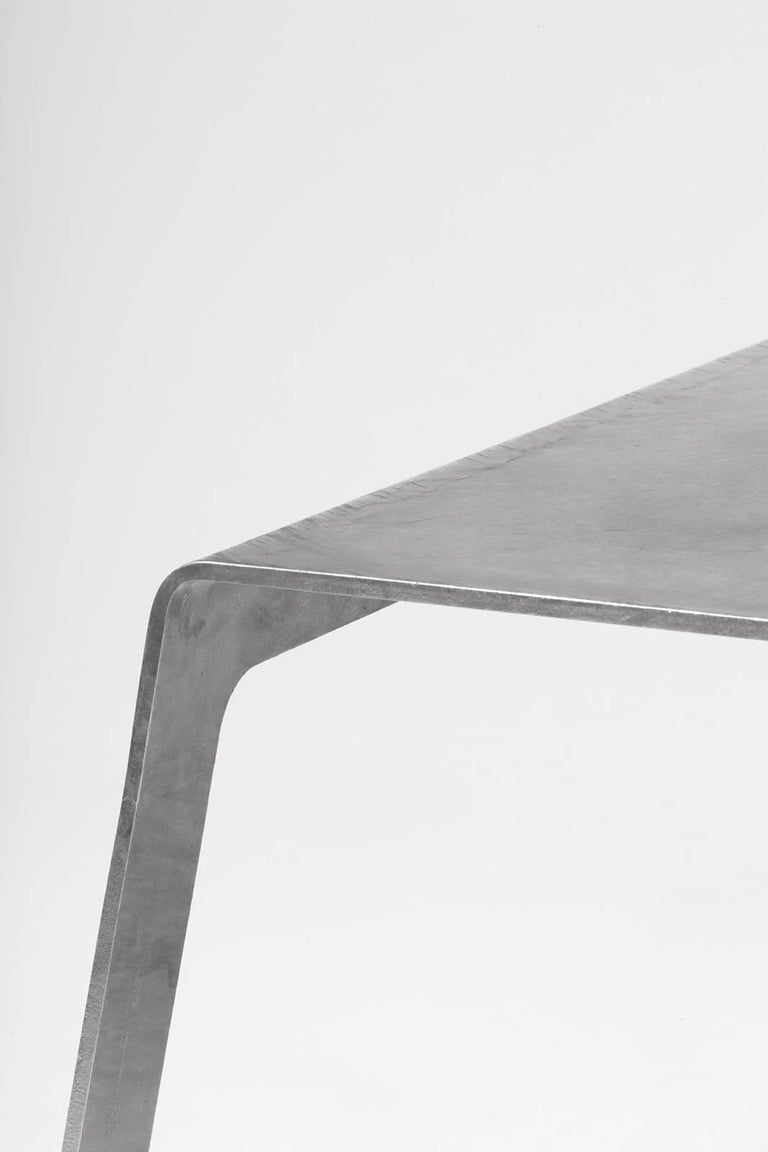 American A_Bench in Hot-Dipped Galvanized Steel Plate by Jonathan Nesci For Sale