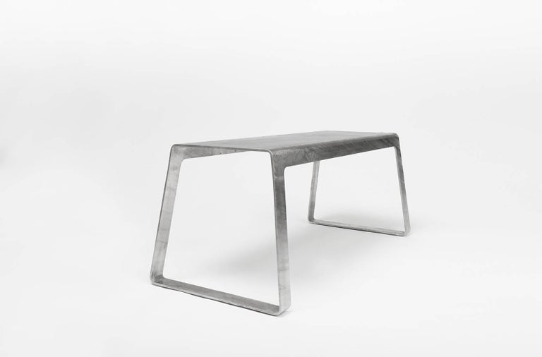 A_Bench in Hot-Dipped Galvanized Steel Plate by Jonathan Nesci For Sale 1