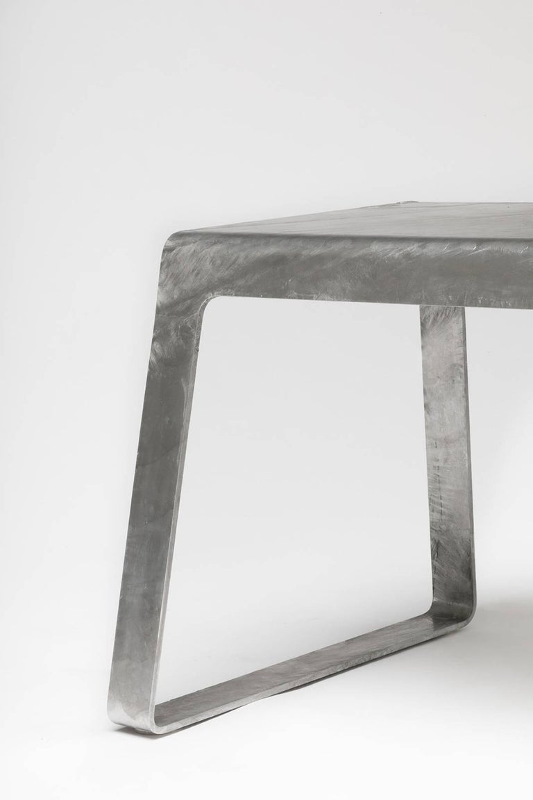 A_Bench in Hot-Dipped Galvanized Steel Plate by Jonathan Nesci For Sale 2