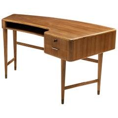 A.A. Patijn forZijlstra Meubelen Desk in Walnut and Brass