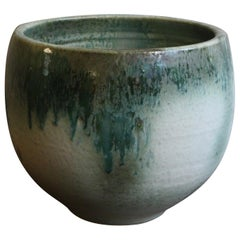 Aage and Kasper Würtz Large Bell Shaped Planter White and Green Glaze