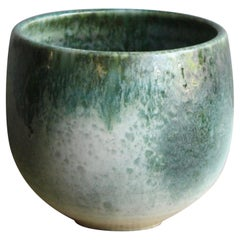 Aage and Kasper Würtz Medium Bell Shaped Planter White and Green Glaze