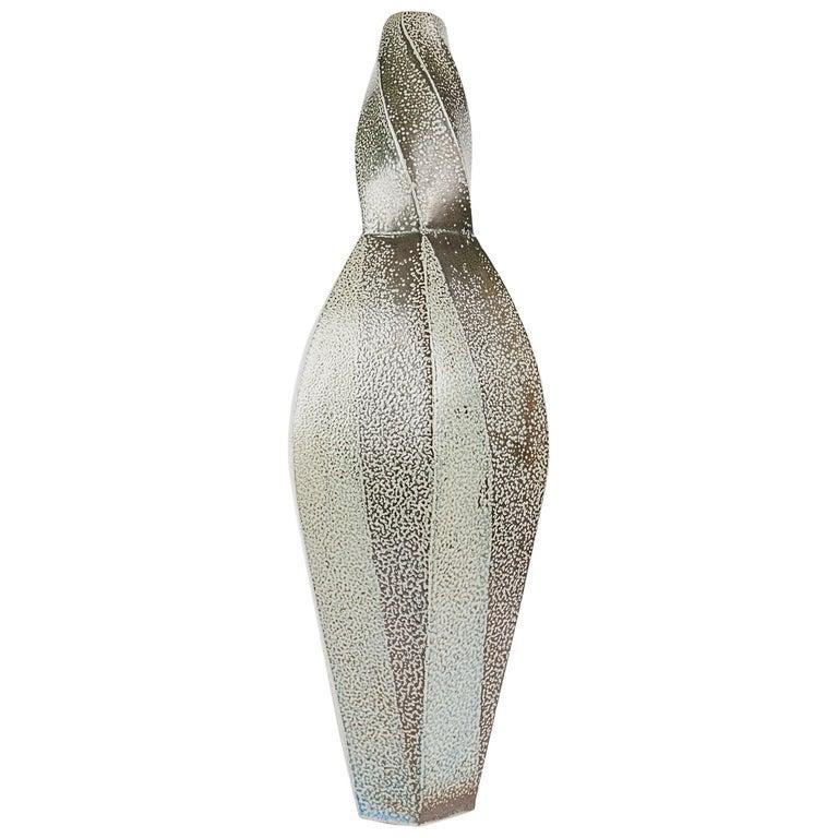 Aage Birck, Twisting Ceramic Vase, Denmark, 2012 For Sale