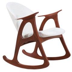 Aage Christiansen Rocking Chair for Erhardsen & Andersen