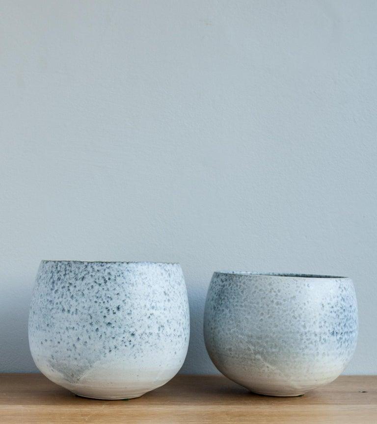 Scandinavian Modern Aage & Kasper Würtz One Off Small Vase Stone Blue Glaze #2 For Sale