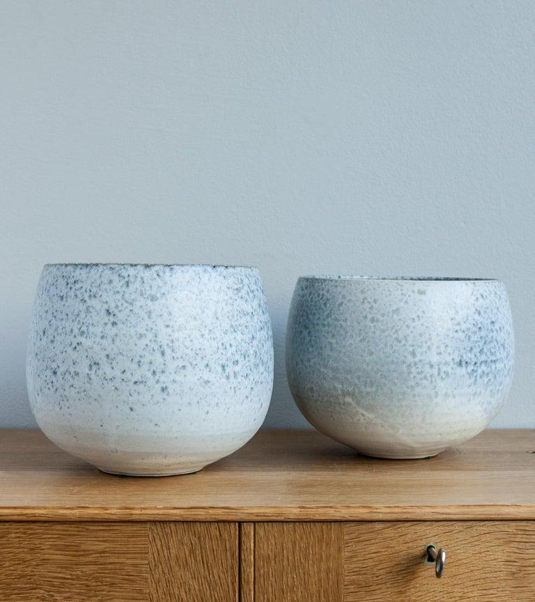 Danish Aage & Kasper Würtz One Off Small Vase Stone Blue Glaze #2 For Sale